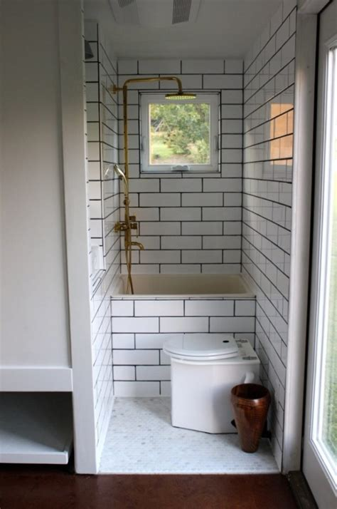 tiny house bathtub minim tiny house on wheels built by brevard tiny house