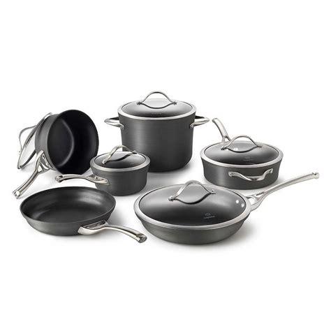 cookware calphalon nonstick kohls anodized contemporary pc hard pans sets pots kohl pan aluminum