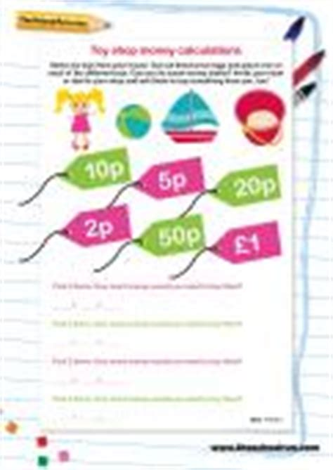 year  money maths worksheets theschoolrun