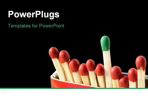powerpoint template standing  green  red matches