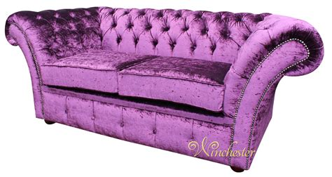 purple velvet chesterfield sofa chesterfield balmoral purple 2 seater sofa settee boutique