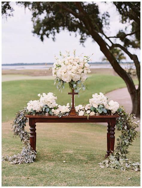 outdoor wedding altars ideas  pinterest