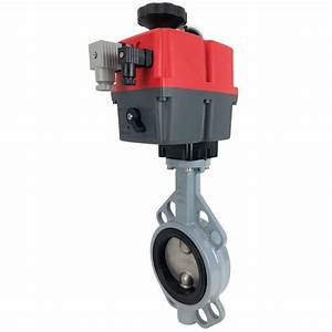 3 U2033 Electric Actuated Butterfly Valve  Wafer  Nbr  24