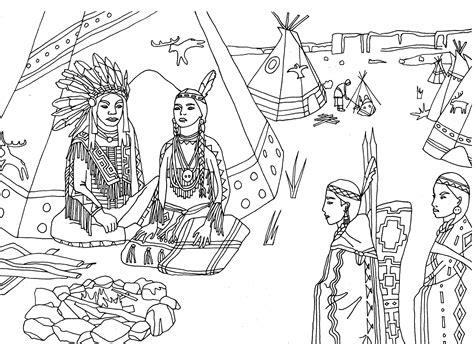 native american coloring pages coloringsuitecom