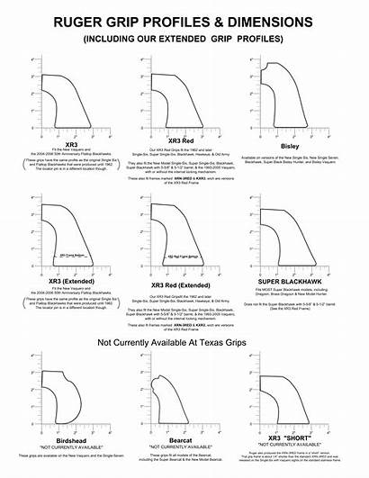 Ruger Grip Dimensions Profiles Frame Dpi Grips