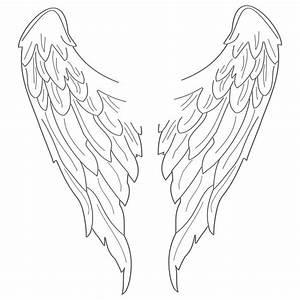 Simple Angel Wings Drawing - ClipArt Best