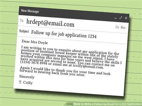 how to write a follow up email for a application 9 steps