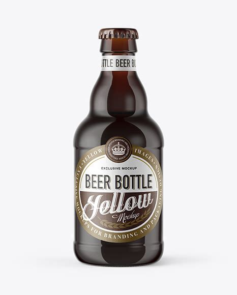 Lager beer, amber glass, green glass and bottle in a paper bag. 330ml Clear Glass Bottle with Lager Beer Mockup - 330ml ...