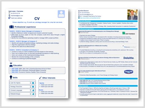 Resume Ppt by Professional Cv Template Resume Template In Powerpoint