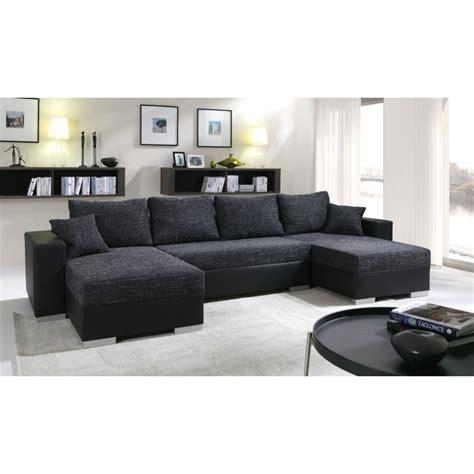 canapes en solde canapé d 39 angle panoramique et réversible enno en tissu et