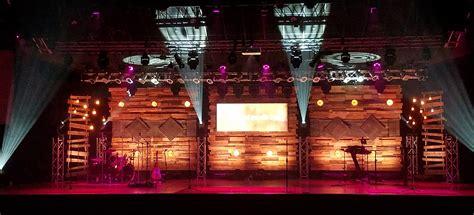 pallets  blind church stage design ideas