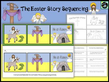 easter story sequencing  hush  bye teachers pay