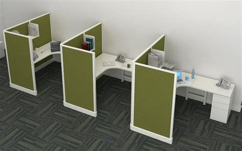 office cubicle workstations open high  wall