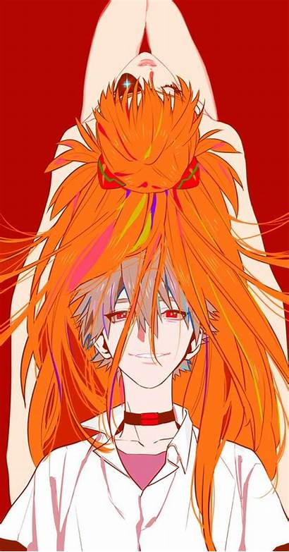 Anime Evangelion Nge Nagisa Asuka Pixiv Neon