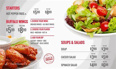 digital signage template restaurant promotion template