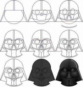 How To Draw Darth Vaderu002639s Mask By Ralo4155 On Deviantart