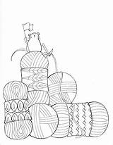 Coloring Pages Still Crochet Yarn Dream Knitting Knit Sheets Knitpicks Adult Books Hand Getdrawings Humor sketch template