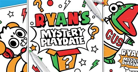 Enable them to choose some coloring sheets that you can print for them. Free Printable Ryans World Color Page - Free Printable Coloring Pages for Kids and Adults