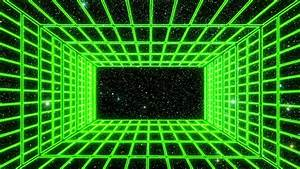 green neon grid room environment stock footage 100