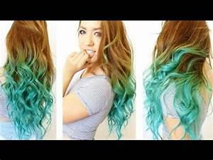 How to: Turquoise Ombre Tutorial! - YouTube