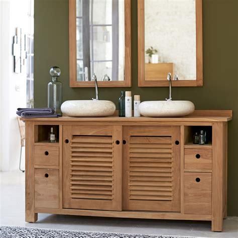 armoire salle de bain teck