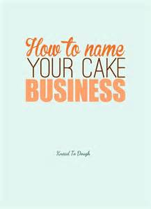 Cake Business Names