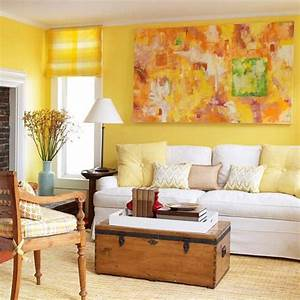 Decorating, With, Yellow, Walls, Living, Room