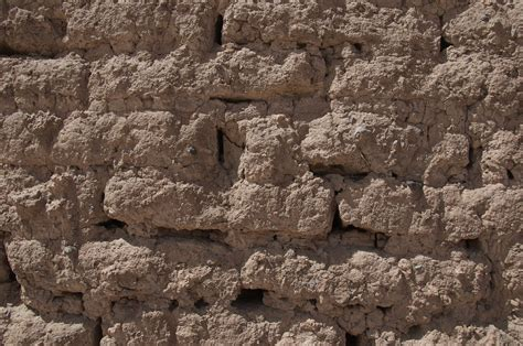 ancient mud brick wall time  exposure   elements