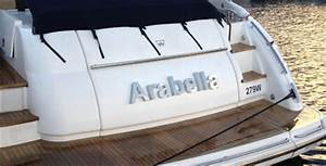 stainless steel illuminated boat names With stainless steel boat lettering