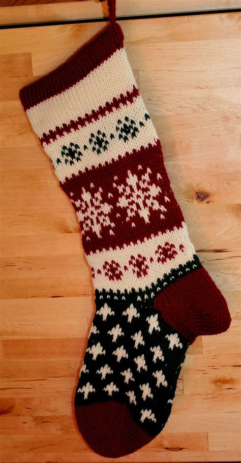 hand knit christmas stocking christmas stockings pinterest