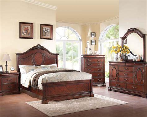 Dark Cherry Bedroom Set Estrella By Acme Furniture Ac20730set