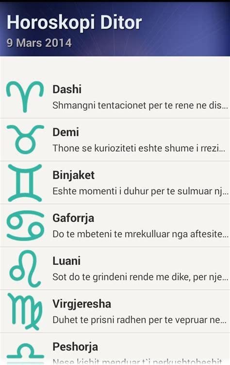 Horoskopi shqip para Android - APK Baixar