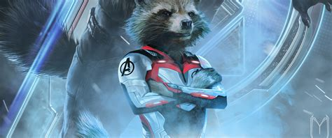 avengers endgame rocket raccoon white suit