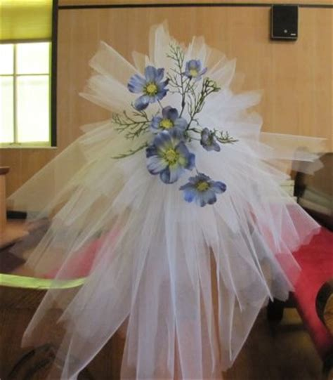 tulle pew bows church wedding decorations