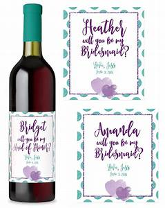 bridesmaids wine labels six methods to create your own With create own wine label