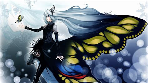 Anime Butterfly Wallpaper - anime butterfly hd wallpaper background image