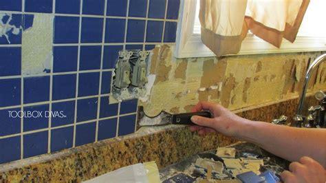 Tile Removal  Remove  Tile Backsplash