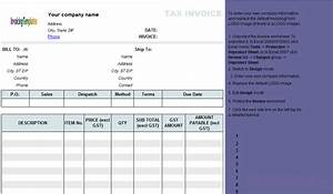 invoice with gst template invoice template excel australia With gst invoice format in excel
