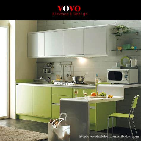 modular kitchen cabinet green colour  kitchen