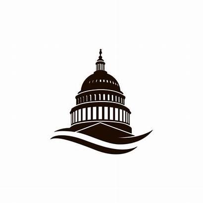 Capitol Building Dc Washington Vector Clip Icon