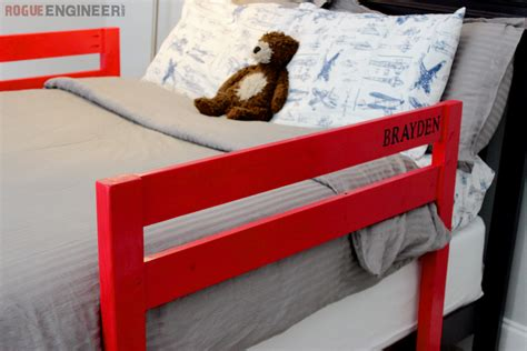 bed for toddler with rails diy toddler bed rail free plans built for 15