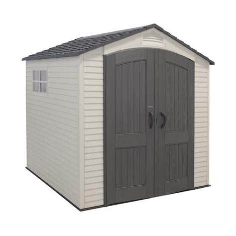 outdoor sheds walmart lifetime 7 x 7 ft outdoor storage shed with 2 windows