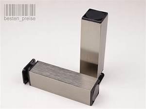 Möbelfüße Edelstahl Gebürstet : 40x40 edelstahl h he 150mm m belfu m belf e sockelfu sockelf e schrankfu ebay ~ Orissabook.com Haus und Dekorationen