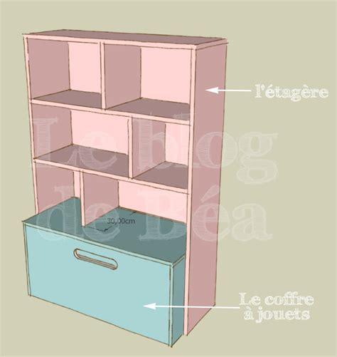 meuble de rangement jouets chambre diy étagère pour chambre d 39 enfant et coffre à jouets le