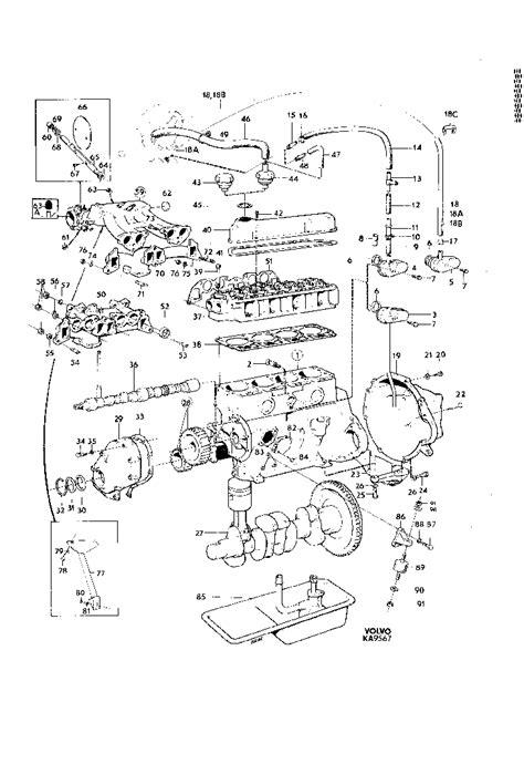 Volvo Parts Diagrams by 140 Type 1972 Parts Catalog