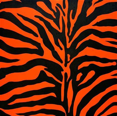 Orange Animal Print Wallpaper - black and orange zebra painting by doug powell
