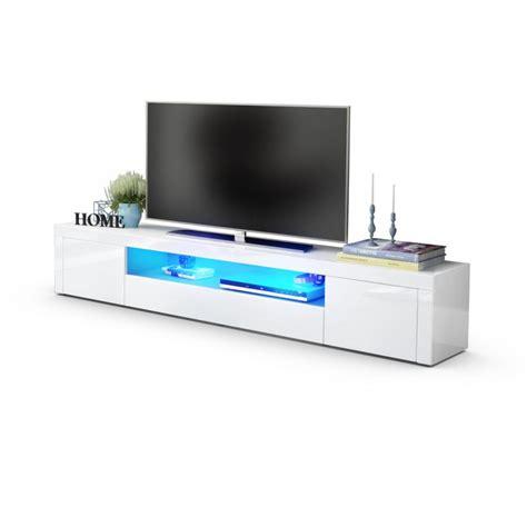 le bureau led design meuble tv moderne laqué blanc 200 cm avec led pour meubles