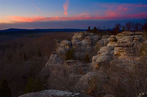 Garden Of The Gods Cabins by Twilight At Garden Of The Gods Illinois Flickr Photo