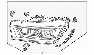 Genuine Audi Headlamp Assembly 80a