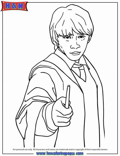 Coloring Pages Potter Harry Ron Colouring Printable